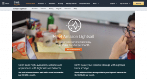 Amazon Lightsail screenshot