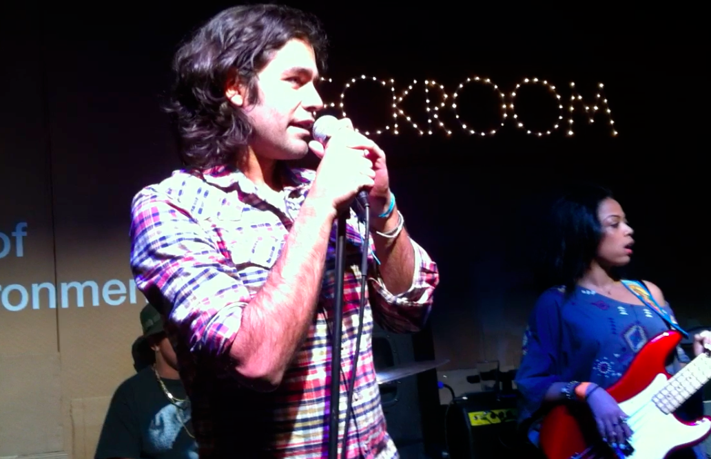 Adrian Grenier introducing The Skins at SHFT WreckRoom @ SXSW 2013