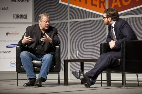 Al Gore and Sean Parker fireside chat