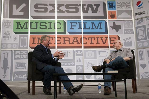 Al Gore with Walt Mossberg @ SXSW 2013