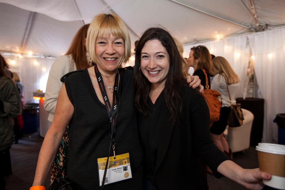 Cindy Gallop and Randi Zuckerberg at the Change The Ratio / TheLi.st Mimosa Brunch at Conduit Corner @ SXSW 2013