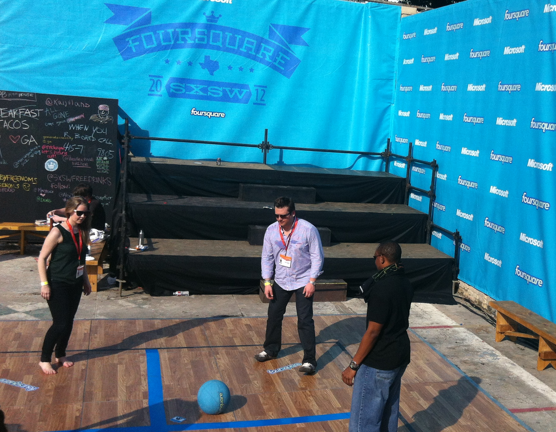 The popular foursquare court was back again this year
