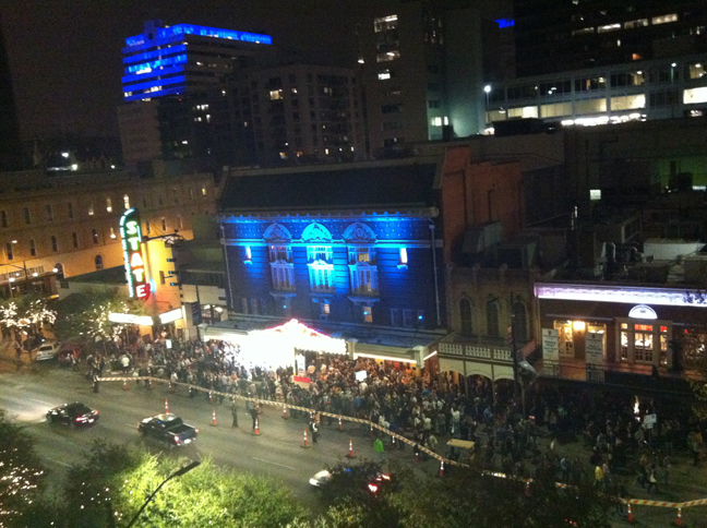View from the roof-to-the-roof at the Made-in-NY / American Express party @ SXSW 2013