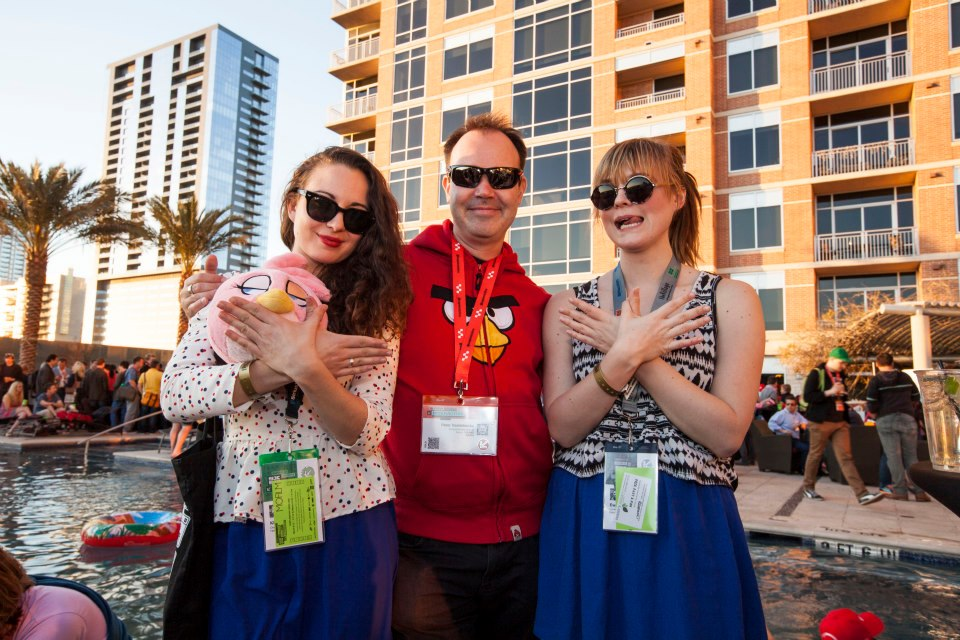Peter Vesterbeca (Mighty Eagle) at the Angry Birds Toons Pool Party @ SXSW 2013