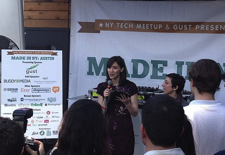 NYC Chief Digital Officer Rachel Sterne with NY Tech Meetup's Jessica Lawrence at the Made In NY event