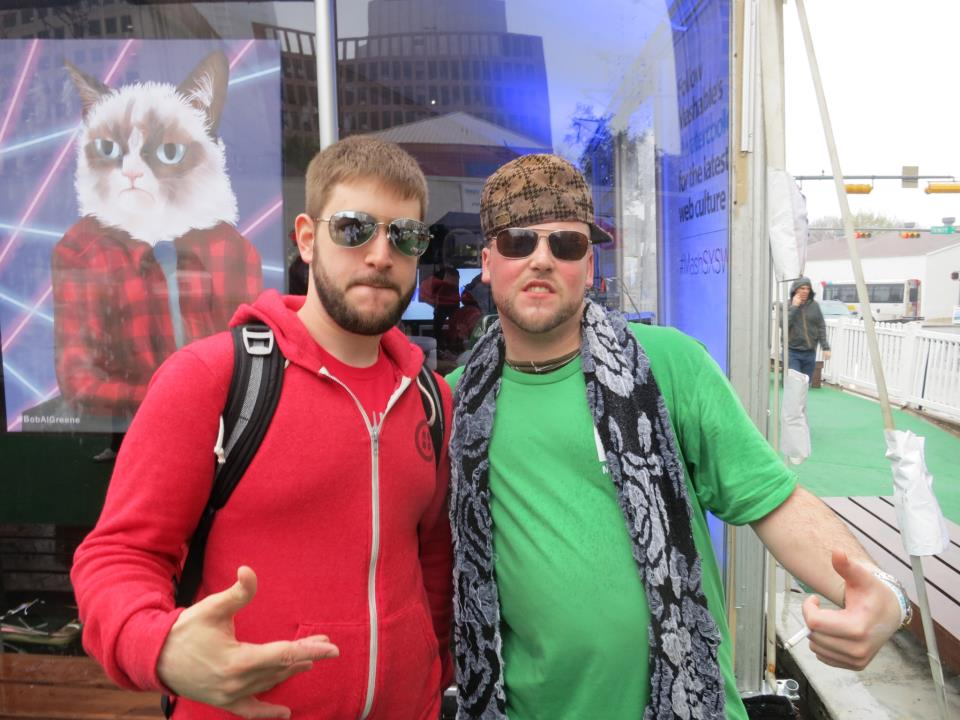 Scumbag Steve with Startup Bus' Jon Gottfried @ SXSW 2013