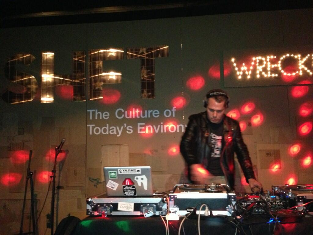 Shepard Fairey performing at SHFT WreckRoom @ SXSW 2013