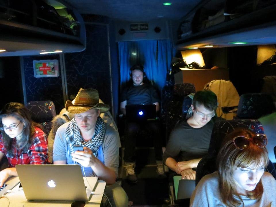 Tal Flanchraych, Jamie Roth & others in Startup Bus @ SXSW 2013
