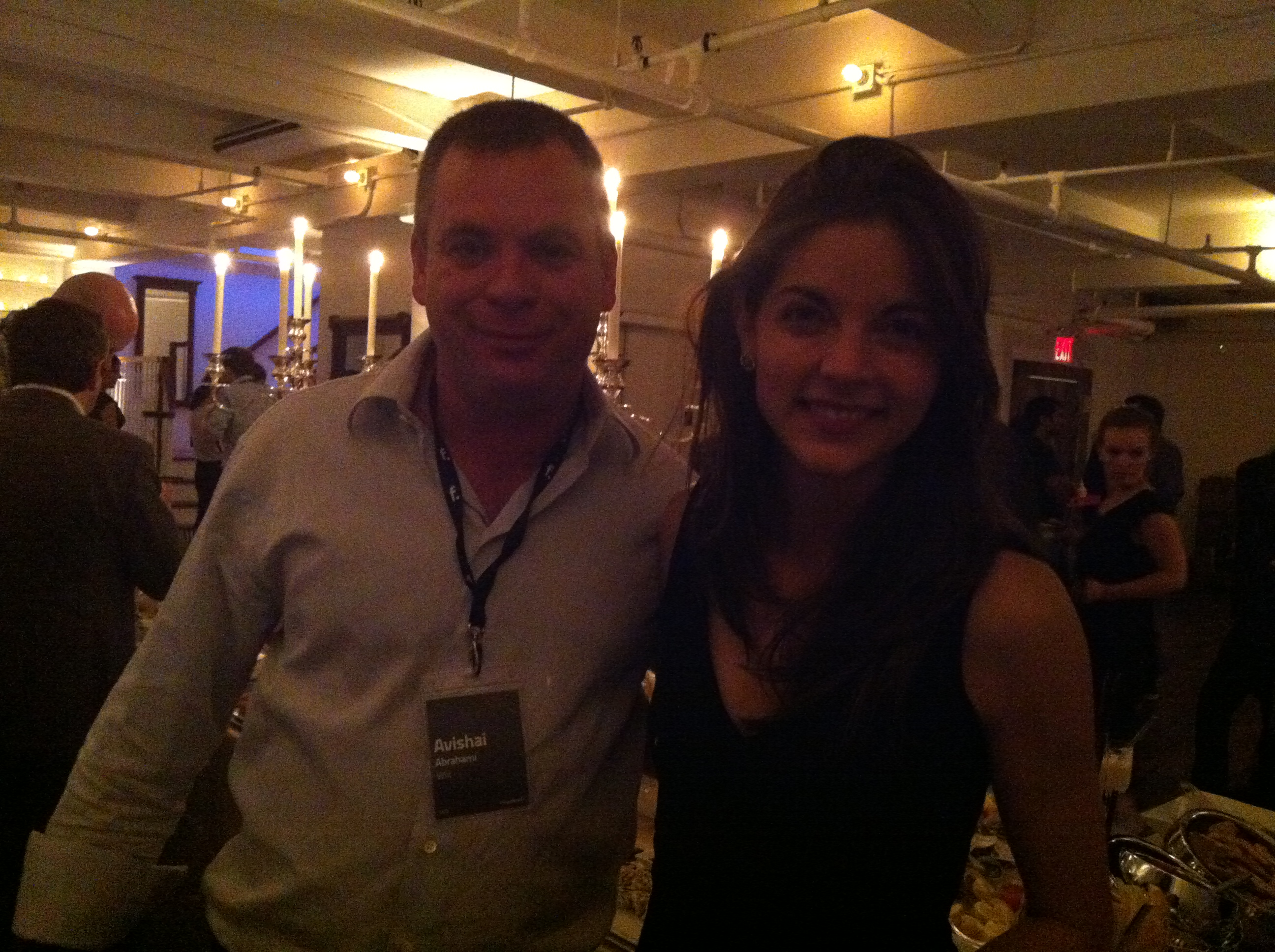 Wix Founder Avishai Abrahami with The Daily Muse Founder Kathryn Minshew at Gary's Loft at F.ounders NY 2012