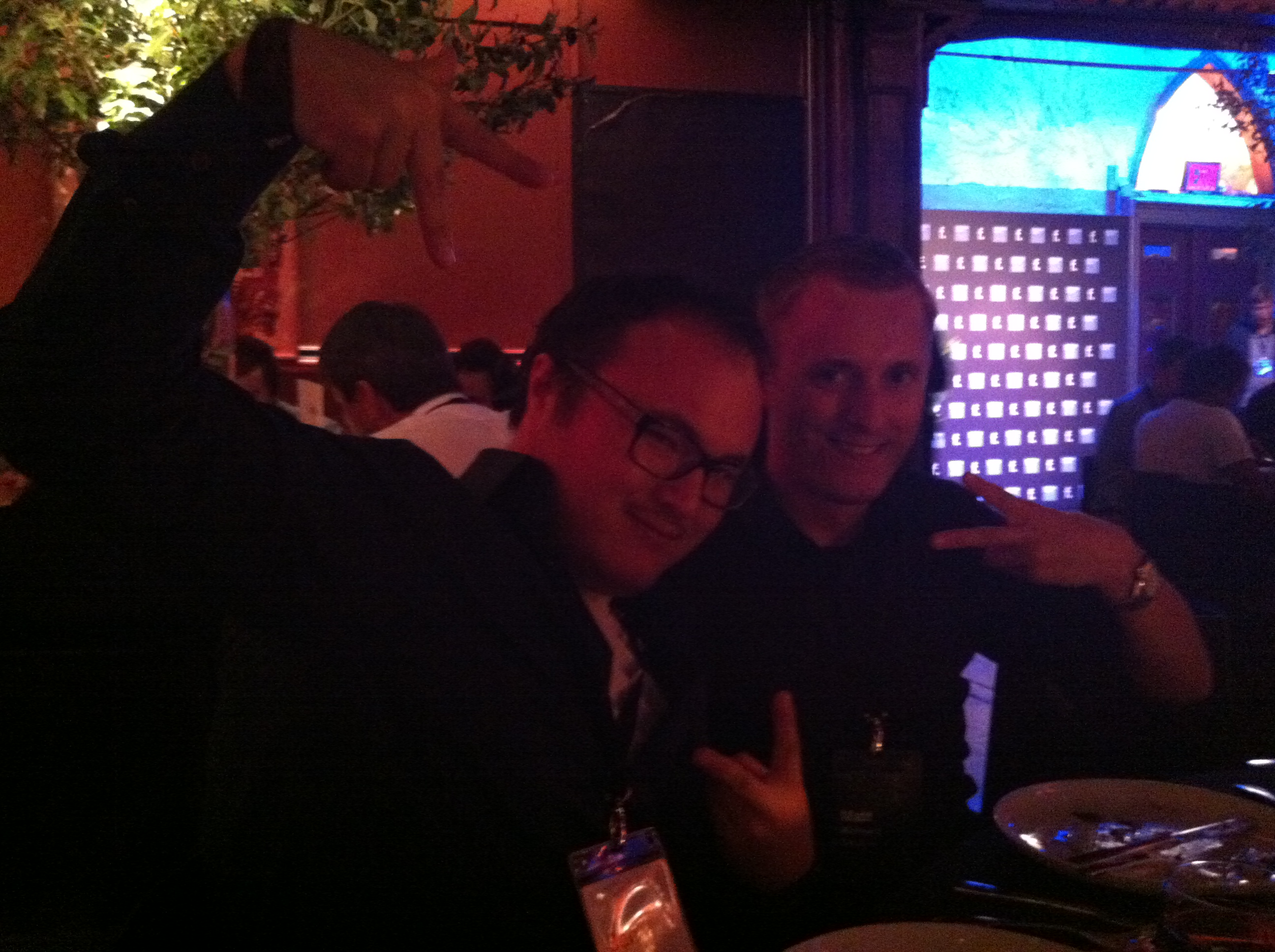 The Peep Project's Ben Parr and 99 Designs' Matt Mickiewicz at the F.ounders NY 2012 Dinner at Angel Oresanz