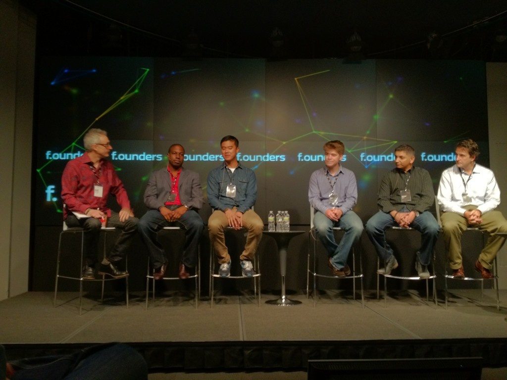 Cracking the education code with David Kirkpatrick (Techonomy), Jose Ferreira (Knewton), Michael Karnjanaprakorn (Skillshare), Zach Sims (Codecademy), Osman Rashid (Kno) and NT Etuk (DimensionU) at F.ounders NY 2012 at NASDAQ