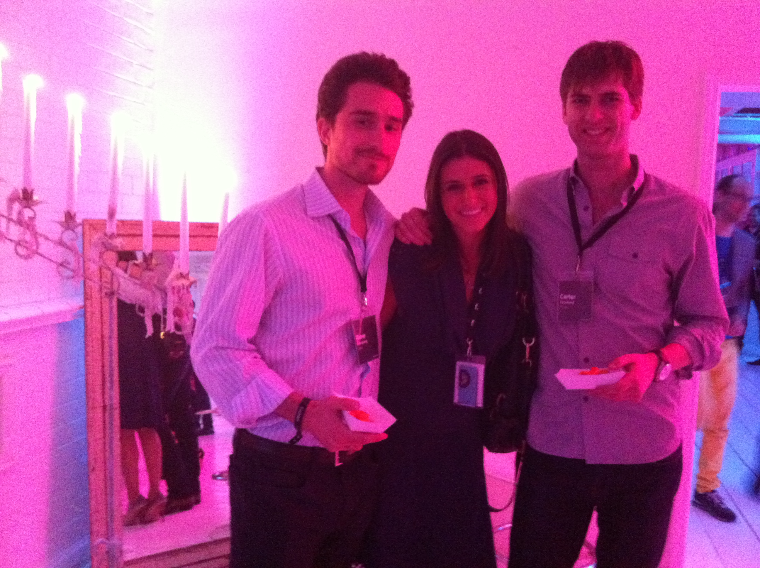 Locu's Rene Reinsberg, CNN Money's Laurie Segall and Artsy's Carter Cleveland at Gary's Loft at F.ounders NY 2012