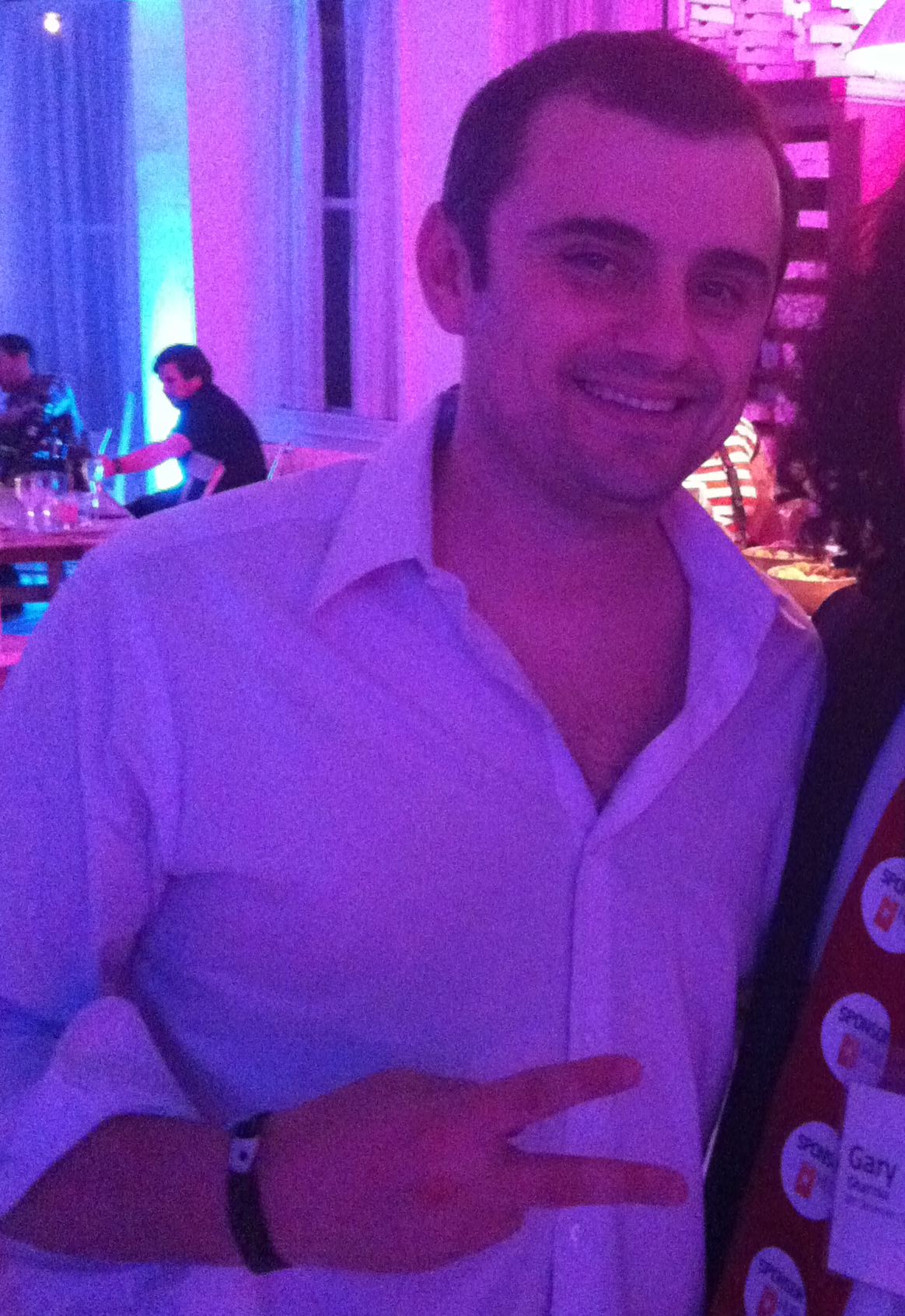 Gary Vaynerchuk and Gary's Famous (and Sponsored) Red Tie at Gary's Loft at F.ounders NY 2012