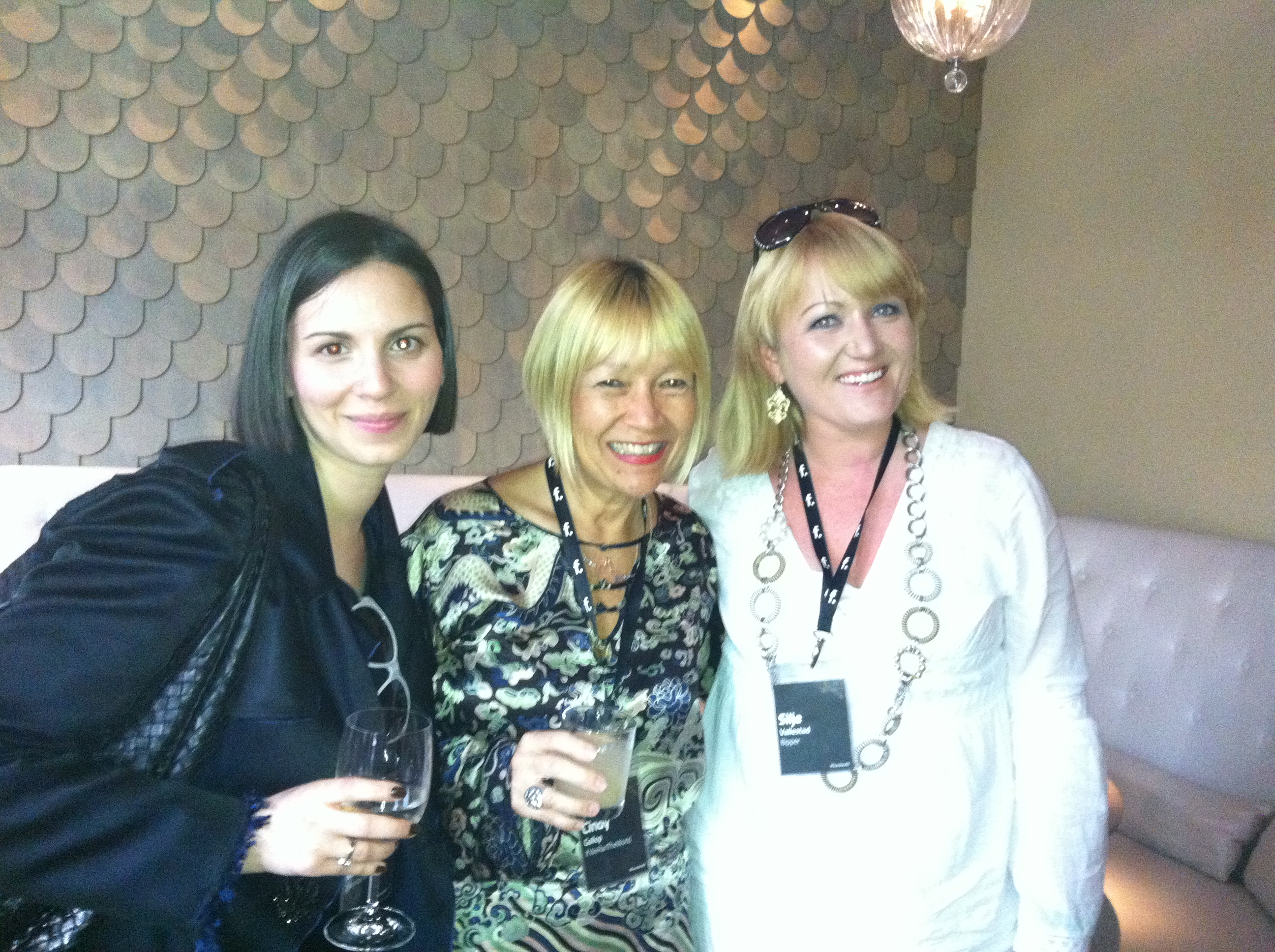If We Ran The World's Cindy Gallop and Bipper's Silje Vallestad at the F.ounders NY 2012 Reception at Mondrian Soho