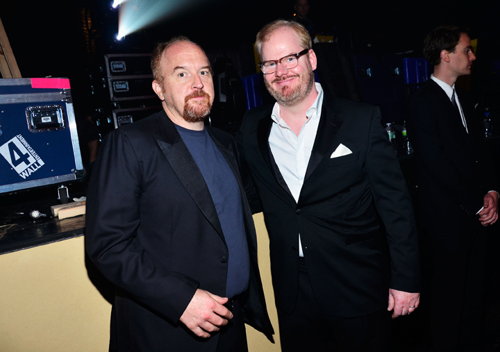 Jim Gaffigan and Louis C.K. at the 16th Annual Webby Awards