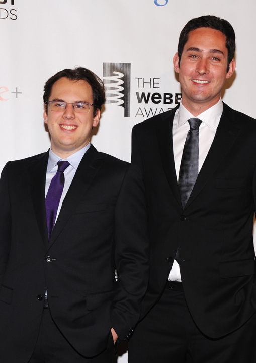 Instagram founders Kevin Systrom and Mike Krieger at the 16th Annual Webby Awards