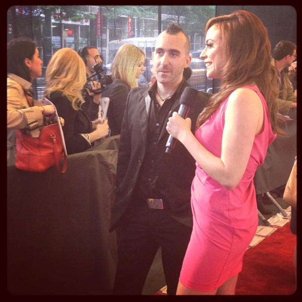 Shira Lazar with restauranteur Marc Forgione at the 16th Annual Webby Awards