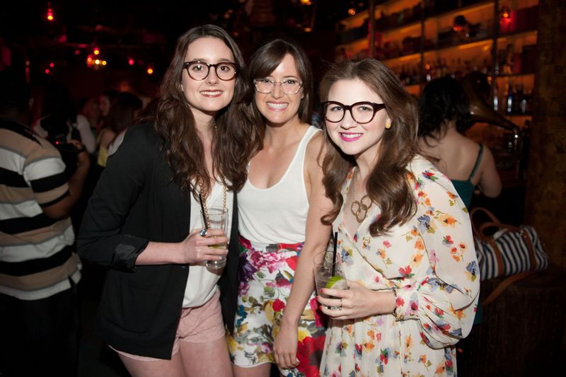 Mary Beth, Taylor Bennett and Kaki Read of Warby Parker at the Refinery 29 / Warby Parker party during Internet Week 2012