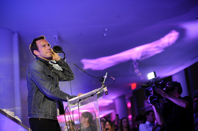 Actor and Comedian Will Arnett manning the DJ booth at the IAC / Aereo Internet Week Closing Party