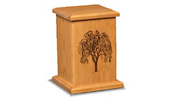 Serene Etched Willow Urn Image