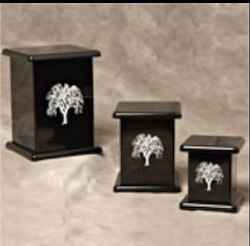 Contemporary Photo Urn - Black Image