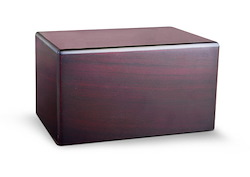 MDF Cherry Box Urn Image