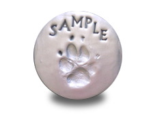 Partridge Clay Paw Print Image