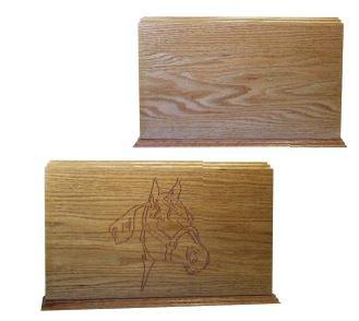 Equine Solid Wood Urn Image