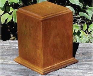 Solid Wood Urn Image