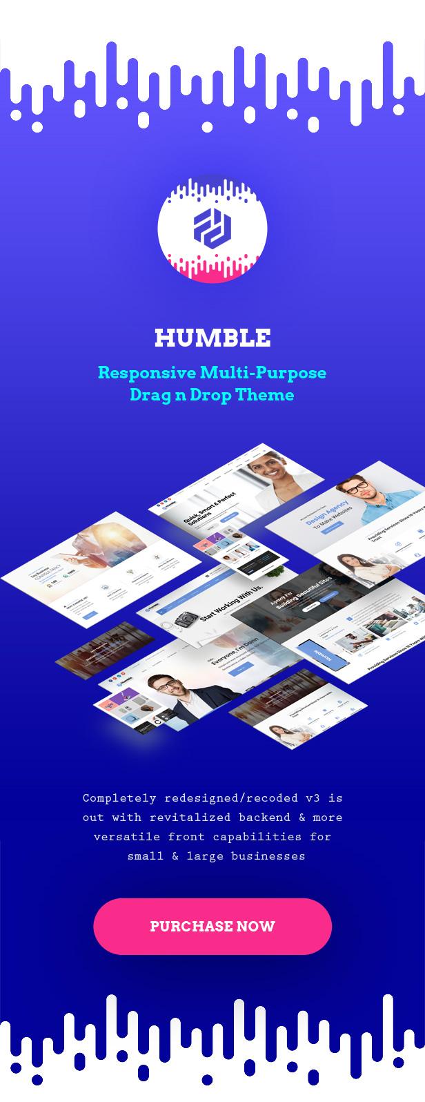 Humble. Responsive Multi-Purpose Drag n Drop Theme Download