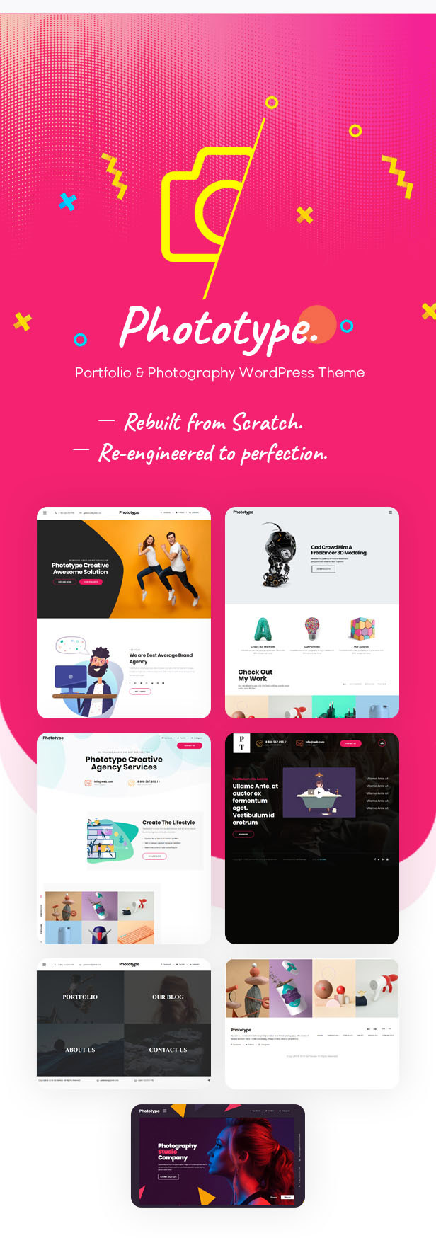 Phototype - New Elementor Portoflio WordPress Theme 2019 for Agency, Photography Sites - 1