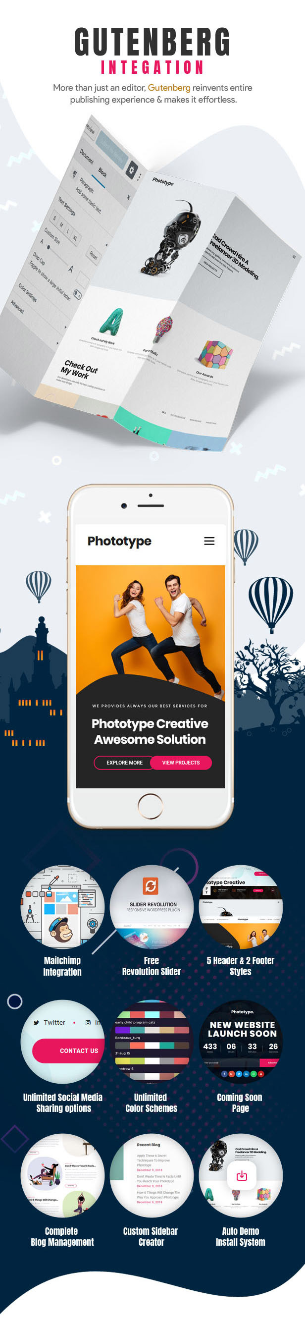 Phototype - New Elementor Portoflio WordPress Theme 2019 for Agency, Photography Sites - 4