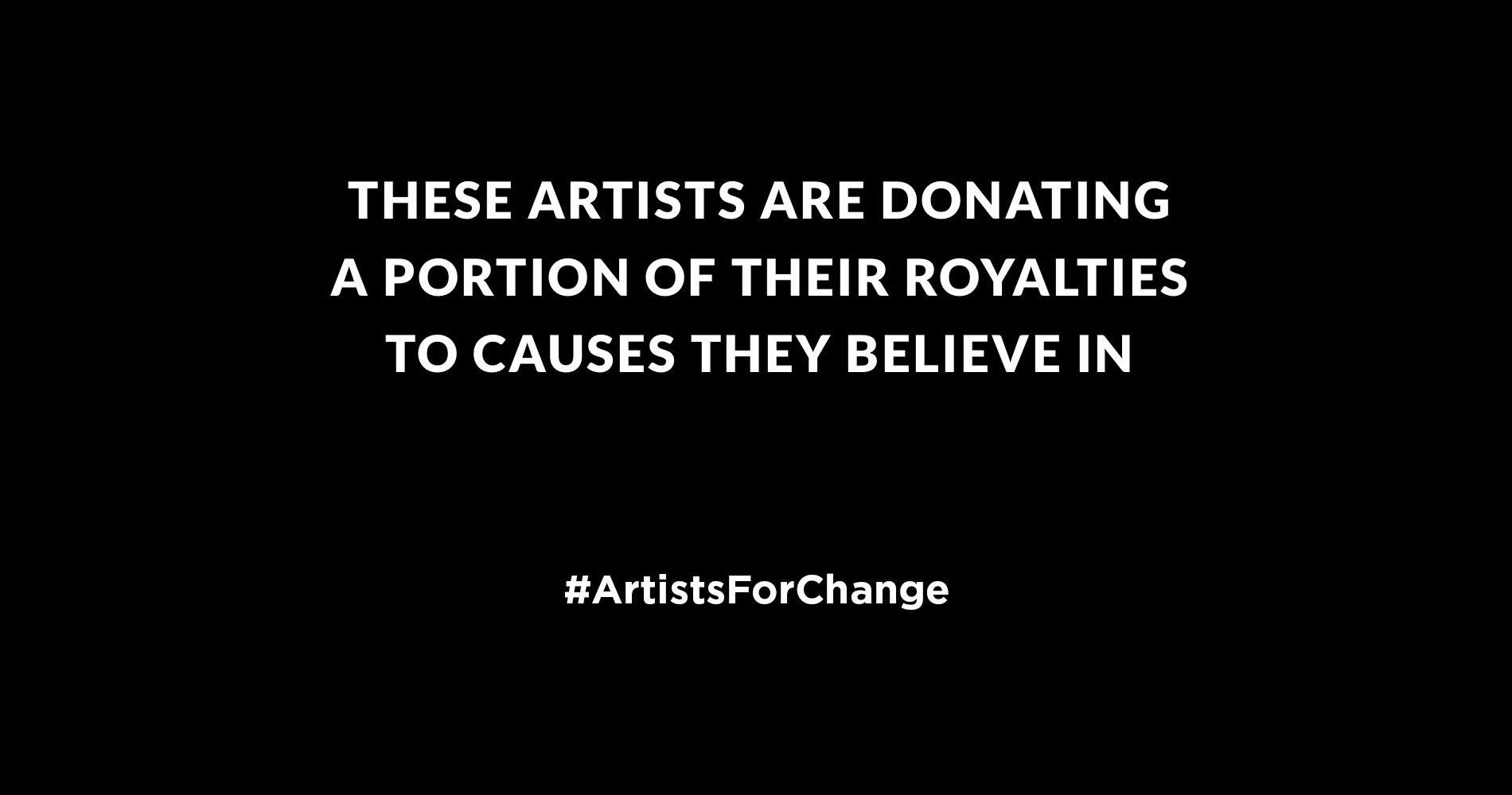 Artistsforchange These Artists Are Donating A Portion Of Their