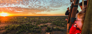 Take a hot air balloon ride in Australia