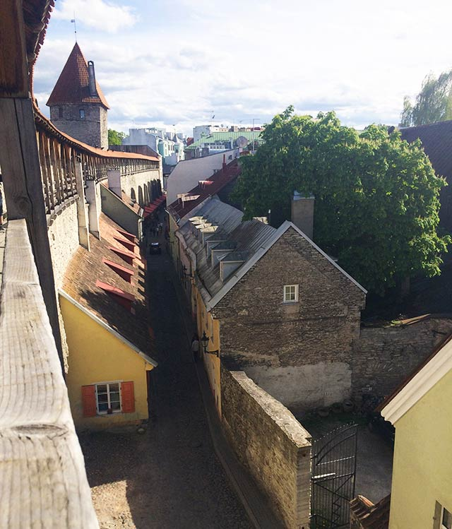 City walls of Tallinn, Estonia