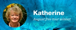 Congrats to Katherine, our August free tour winner!
