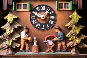 Cuckoo clocks are a speciality of the Black Forest in Germany