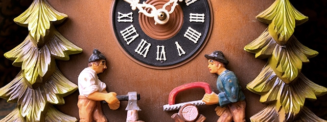 Cuckoo clocks in the Black Forest of Germany