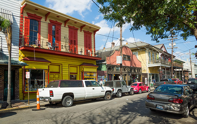 Faubourg Marigny neighborhood in New Orleans, Louisiana