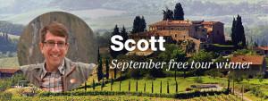 Scott September free tour winner