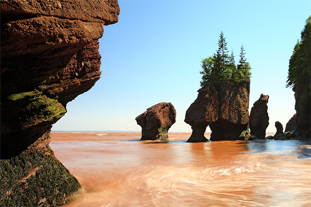 Visit the Bay of Fundy on our tour of the Canadian Maritimes