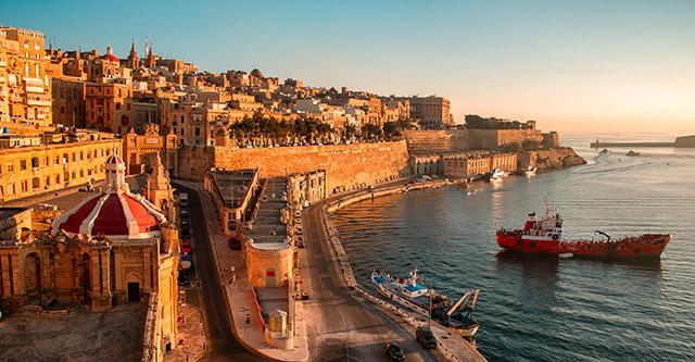 Valetta on the Maltese coast, Italy
