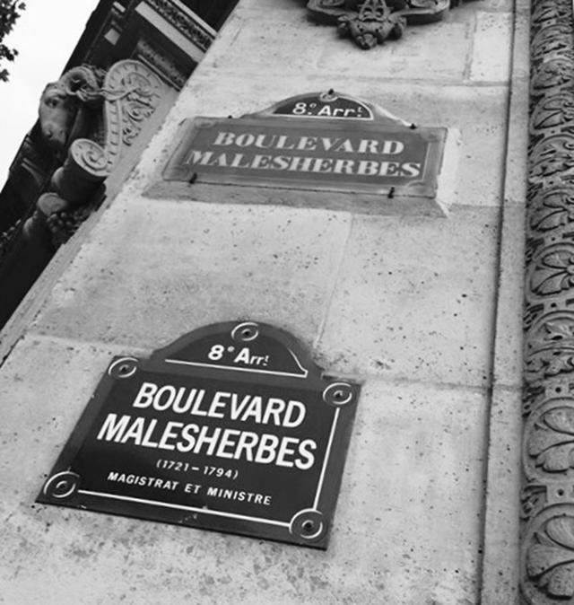 Boulevard Malesherbes in Paris, France