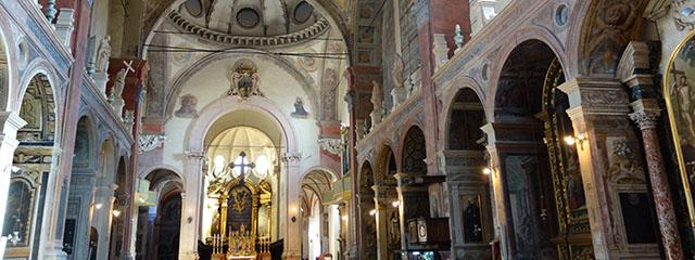 The Basilica of San Giacomo Maggiore in Bologna, Italy