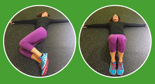 Lower back and hip stretch