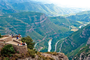 Montserrat is just outside Barcelona, Spain