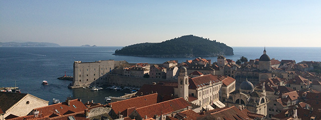 See the red roofs of Dubrovnik, Croatia on tour