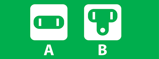 When to use adapters for outlets A and B