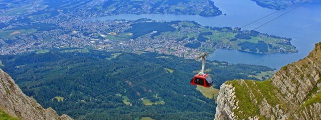 Take a gondola ride up Mount Pilatus in Switzerland