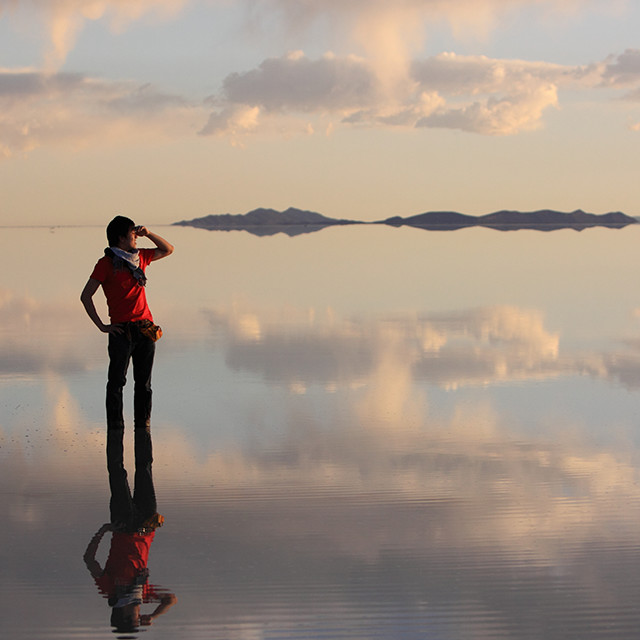 Salt flats in Bolivia